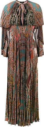 vestido de multicolor plisado Etro manga estampado larga Bg1qT