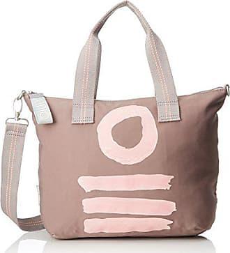 Mhz H Handbag Taupe Cm Beige 15x25x33 X Nylon Femme T Oilily Fun B Ok0Pw8nX