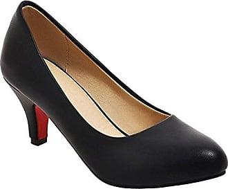 Damen Spitz pumps Heel High 37 Leder Schwarz Misssasa atdxfBqwa