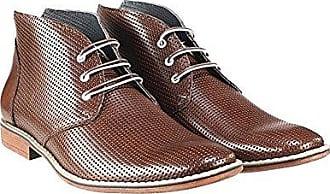 Stiefel Rindsleder Handgemachtes Braun Leder Gargano Geprägtes Chukka 42 Stiefeletten Peppeshoes Modello Schnüren Italienisch Herren CqtvvPwT