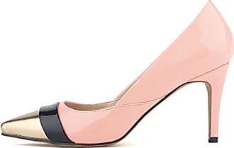 Pumps Metallic Elegant High 36 Spitz Heels Top Low Zehen Pink Eu Stiletto Damen Aisun T4x1qwv1