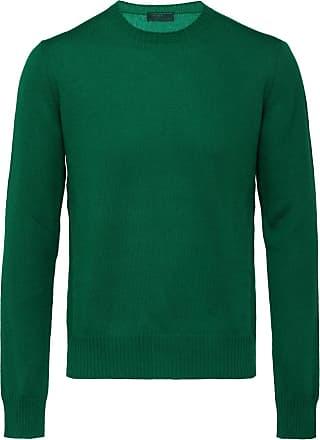 Knitted Prada Vert Crew Neck Sweater TwaRqC