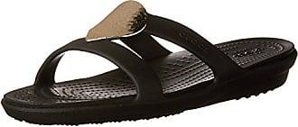 5 Slide Black Frauen Crocs Sandale Metallic Verschönerte 37 silver Sanrah Eur wOWq6FHA