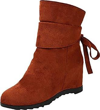 Schnalle Frauen Römische Outdoor Chelsea Herbst Gewebte Wedge Stiefeletten Schuhe Winter Scothen Ankle Damen Boots Trichterabsatz Stiefel Keile v8q0xStnPw