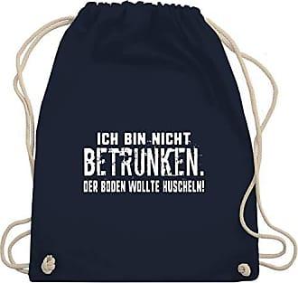 Boden Kuscheln Sprüche Der Wollte Nicht Blau Betrunken Bin Bag amp; Ich Unisize Shirtracer Wm110 Gym Turnbeutel Navy S8UxYS