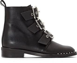 Jonak Boots Boucles Cuir Noir À Dirce Y7YzrSnv