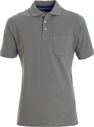 Redmond Redmond Casual Poloshirt Poloshirt GrauEinfarbig Redmond Kurzarm Casual Casual GrauEinfarbig Kurzarm Kurzarm Poloshirt HIWDY9E2