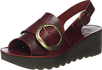 37 Femme Fly Rouge Sandales London Bout Ouvert red Yidi190fly Eu XX6Bq8