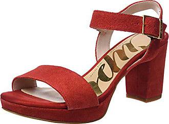 Eu 38 Serraje Sandales red Cheville Rojo Pala Rouge Bride Femme Cuplé Sandalia qx6POO