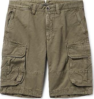 Green Cotton blend ShortsSage And Linen Cargo Incotex ul3FTK1Jc