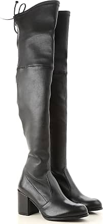 Soldes cher Chaussures 38 Femme Cuir en Pas Weitzman Stuart Noir 2017 TnYZB5Iq