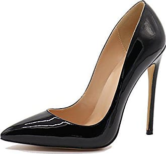 Party Stiletto Heels Damen Business Schuhe Lack Schwarz 12cm Spitze Oder Glitzer Elashe Eu41 High Pumps qZTz5wA