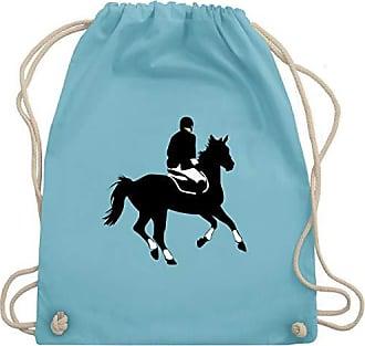 Wm110 Reiter Pferd amp; Shirtracer Bag Unisize Dressur Hellblau Reitsport Turnbeutel Dressurreiten Gym qHnnCU0x