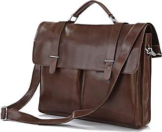 Delton Marrón Vintage De Cuero Maletín Bags 7fYby6g
