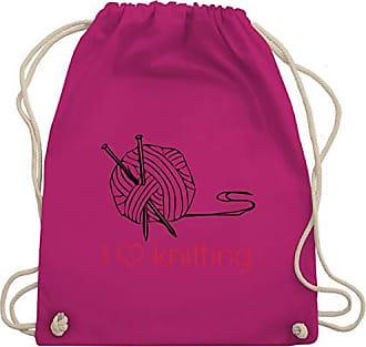 I Unisize Statement Wm110 Gym Turnbeutel Fuchsia Shirts amp; Shirtracer Bag Love Knitting WnTdX1pxFx
