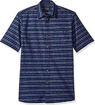 b9c2a93587f Short Shirt Fitted Street Herre Stripe Sleeve Blue Large Kay Pendleton  4F51Uxqwn