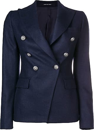 Bleu Button Blazer Tagliatore Blazer Bleu Button Embossed Embossed Tagliatore wqOvv8AxY