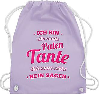 Pastell Lila Unisize Die Wm110 Tante Bin Ich Schwester Gym Shirtracer Bag Patentante amp; Coole Turnbeutel Xxv8Unwzq