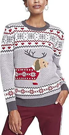 Urban Multicolore Christmas Dog Classics Femme Ladies Sausage greywhite Sweater Pull qwUqr6nO