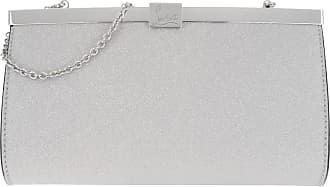 Palmette Christian Silver Small Silber Louboutin Clutch vqqw54gF