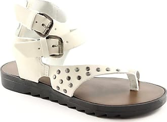 Blanches Bottega Tongs Femme Chaussures 3839 Dartisanat Boutique Artigiana Clouté rnCXqr