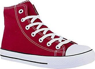 B177 Damen Turnschuh SneakerSportschuhe High Elara Schuhe bordorot Unisex Herren Top Textil 43 Für H29EDI