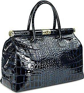 Leder Cm Bag The X H Kroko Ledertasche Damen Xxl 38x26x18 Farbauswahl b Henkeltasche Handtasche Lack dunkelblau T Belli Umhängetasche PgtHwxw