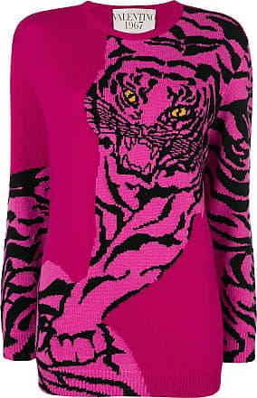 Intarsia Tiger Sweatshirt Rose Sweatshirt Rose Intarsia Tiger Valentino Valentino Valentino Tiger dtPT1qw