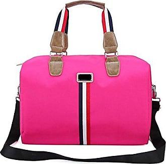 Wasserdichte Große Taschen pink Kapazität Reisetaschen onesize Unisex Gepäck Gestreifte Gkkxue Taschen qp1Z7ap