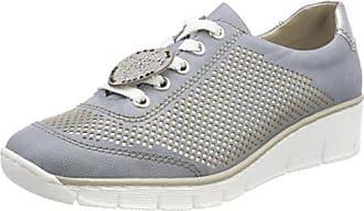 Cordones 537p2 Azul Zapatos silver nebbia Para Derby De Mujer Eu 38 blue Rieker 6Fqwg1ZZ