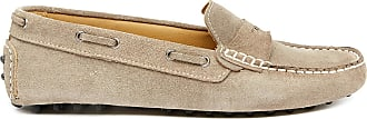 Mocassins British Lucie Velours En Cuir Beiges Passport De wqnvq54C