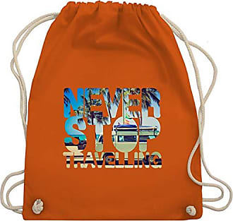Turnbeutel Orange Wm110 Never Shirts Travelling Stop Palmen Meer amp; Unisize Bag Gym Statement Shirtracer w8q6vw