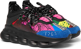Panelled Neoprene SneakersMulti Versace Reaction Chain 54RALj