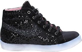 Sneakers Picche Velours Bx345 Paillettes Chaussures Di Fiori Femme Noir a4qIY5w