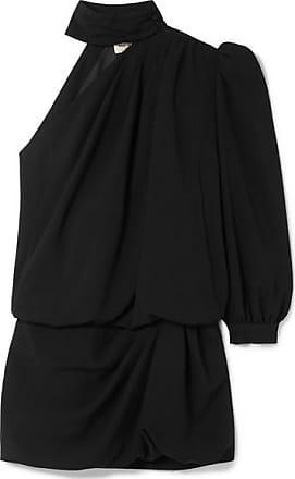 robe Laurent Asymétrique Mini Crêpe Saint Noir En 6Ofgwq