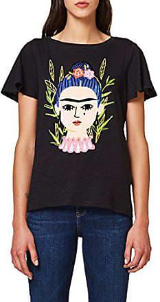 shirt black Multicolore T 001 Femme 088ee1k023 Large Esprit AaXEwq
