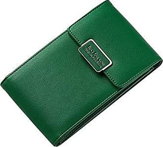 Geldbörse Damen Handyfach Umhängetasche Reißverschlussfach Mini Süß Kartenfächer Aisun Grün Münzgeldfach 29IWEDH