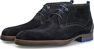 Schuhe Floris Wildleder Van Dunkelblauer Business Boots Lederstiefel Handgefertigt Schnürstiefel Bommel SrS4nPY