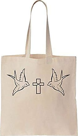 Finest A Minimal Tote Birds Cross With Two Canvas Cotton Prints Bag Design BqCxUwBrI