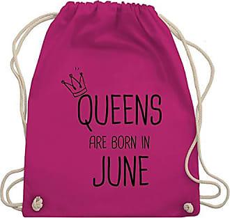Geburtstag amp; June Gym Born Are Fuchsia Bag Unisize Wm110 Shirtracer In Queens Turnbeutel ZdOq1qCw