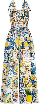 Combi De pantalon À Dolce Plats Coton Plis Bleu Popeline amp; En Imprimée Gabbana tZqZw6EY