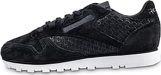 Baskets Emb Woven Classic Femme Reebok Leather Noire aw6PInYq