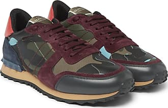 Canvas print Leather And Sneakers Garavani Suede Camouflage Rockrunner Green Valentino wq7Tax