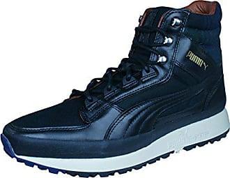 Puma Luxe black 47 Herren Turnschuhe Leather Montapon oeCBdx
