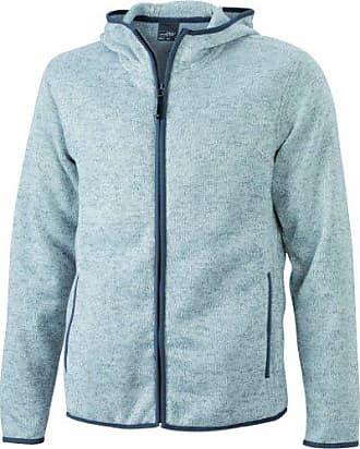Sweatshirt amp; Nicholson light Kapuzenjacke Hooded Grigio Uomo Giacca Knitted Fleece James Mens FS66p