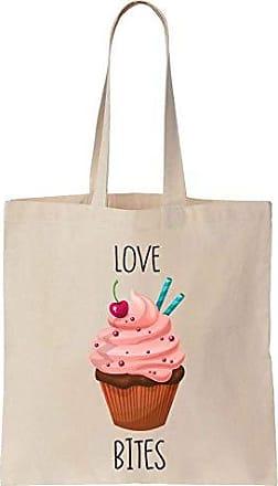 Finest Cotton Bag Bites Canvas Cupcake Prints Tote Adorable Love Majectic vBvqYrw