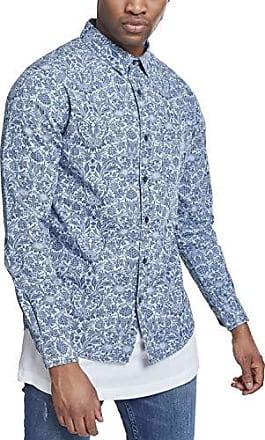 Vaquera Denim Flower Wash Classics Shirt Blue Light Printed L Camisa Hombre Para Urban OpTwqYY