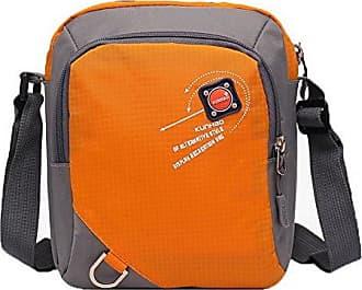 Umhängetaschen Formal Nylon Damen Orange Taschen Voguezone009 Reißverschlüsse Beiläufig g8YwSPq