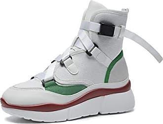 Casual Untere BootsWeiß36 Ferse Flache Damen Sneaker Lsm stiefel Dicke f67gYbyv