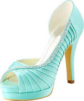 Heel Größe Türkis Minitoo Turquoise Hochzeitsschuhe 38 Damen 12cm Modische qOwTBP